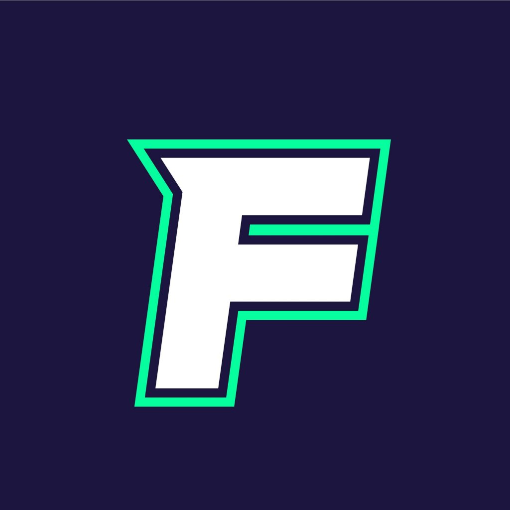 Letter F Mascot Logo