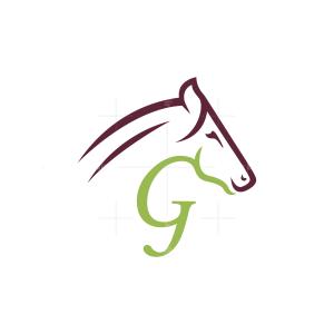 Letter G Horse Logo