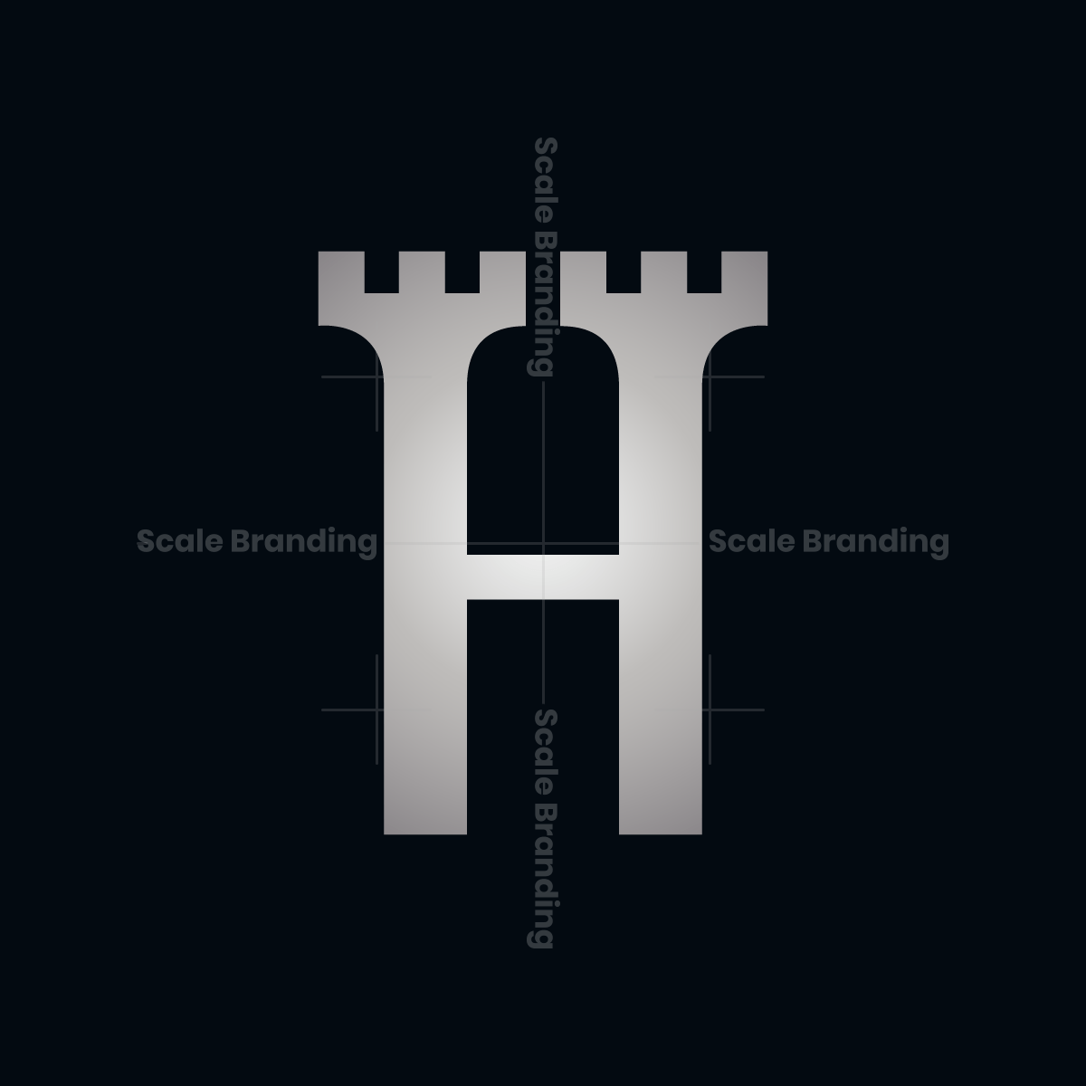 Letter H Fort Logo