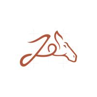 Letter J Horse