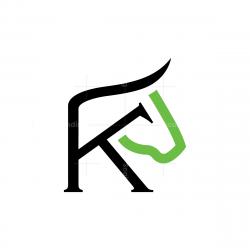 Letter K Bull Logo
