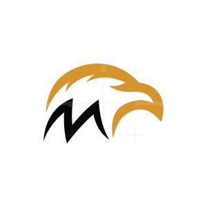 Letter M Eagle Logo Eagle Head Logo