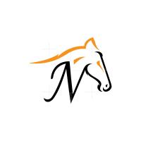 Letter N Horse Logo