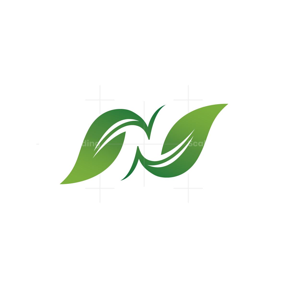 letter n nature logo letter n nature logo