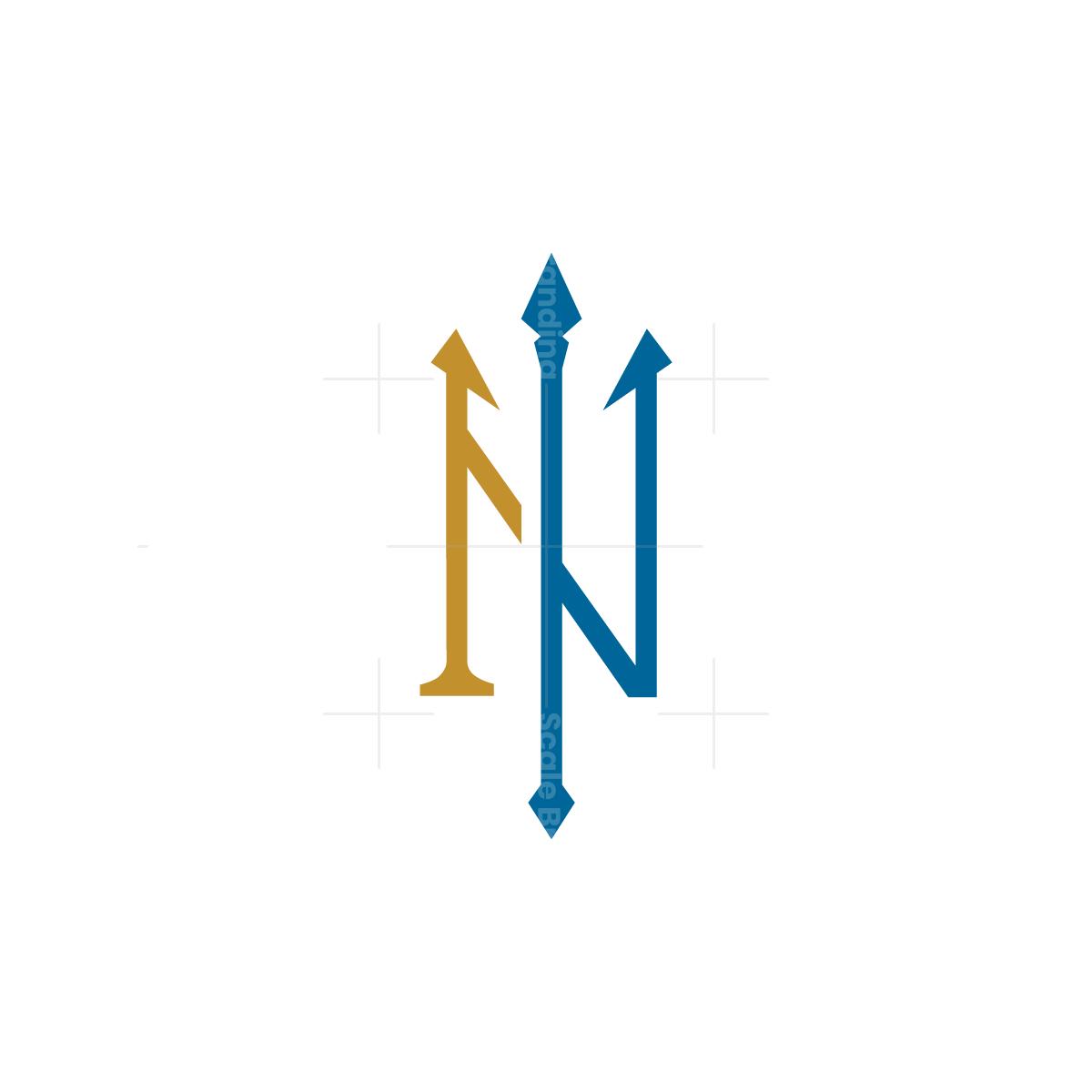 Neptune Letter N Trident Logo