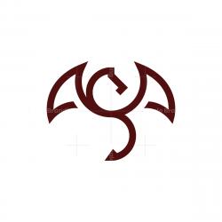 Letter S Dragon Logo