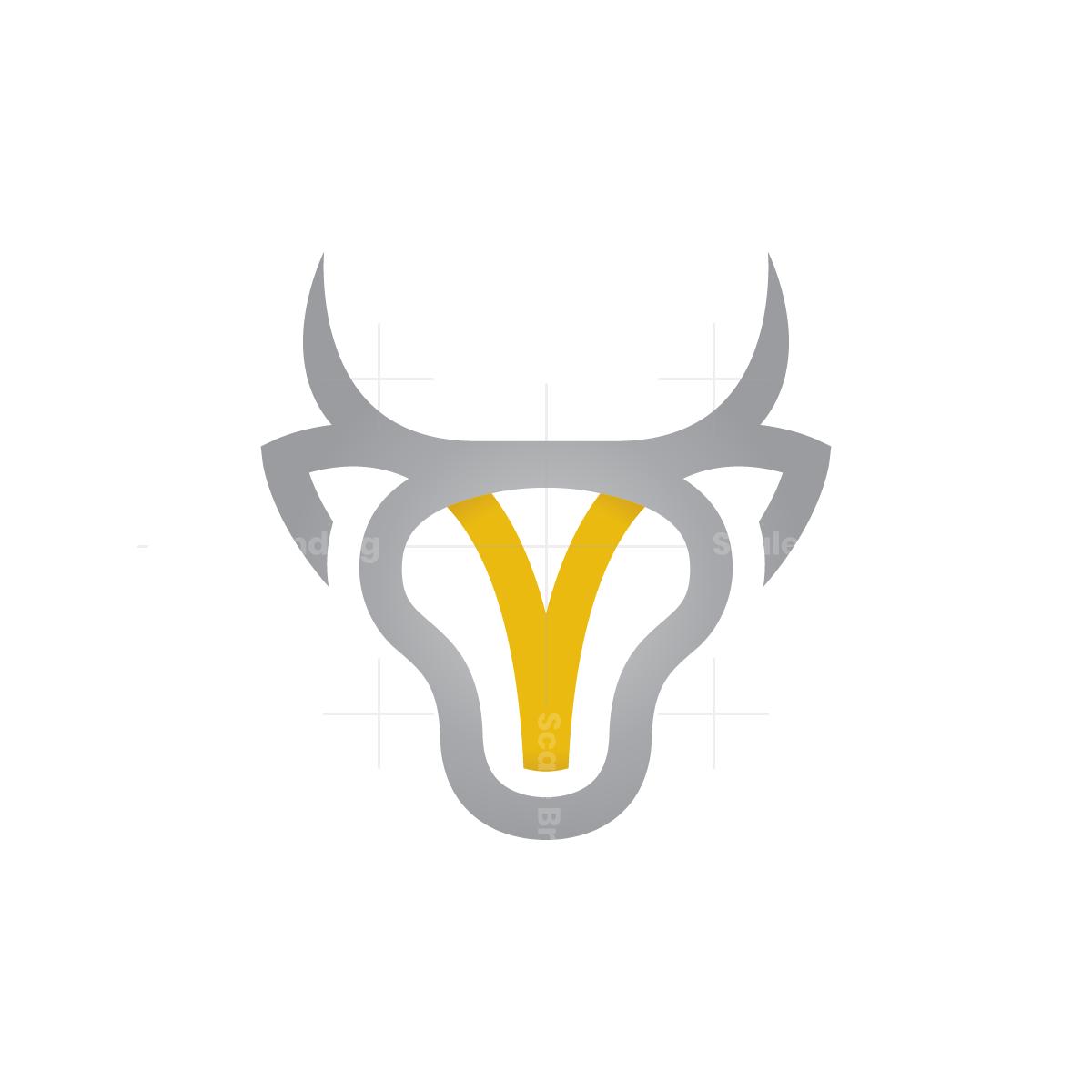 Letter V Bull Logo