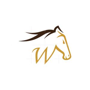 Letter W Horse Logo