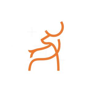 Line Deer Logo