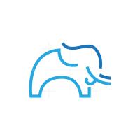 Blue Line Elephant Logo
