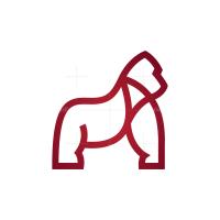 Line Silverback Gorilla Logo