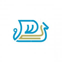 Line Viking Ship Logo