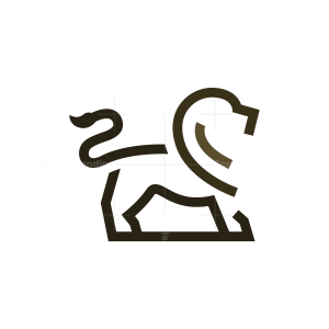 Lines Minimalist Lion Logo