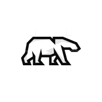 Linear Polar Bear Logo