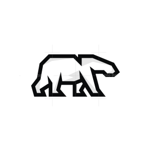 Linear Polar Bear Logo