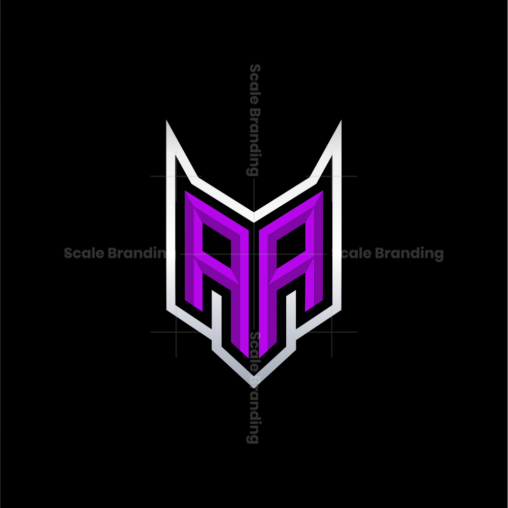 AA Initial Gaming Esport Logo Design Modern Template