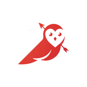Heart Love Owl Logo
