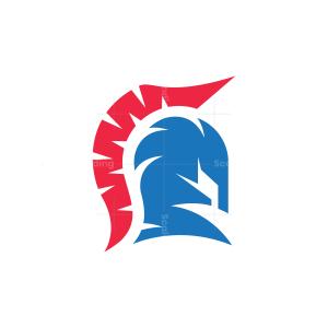 Modern Spartan Helmet Logo