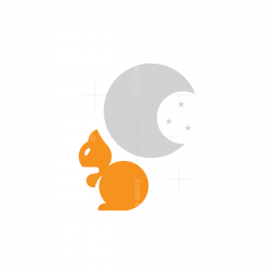 Moon Squirrel Logo