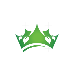 Nature Leaf Crown Logo
