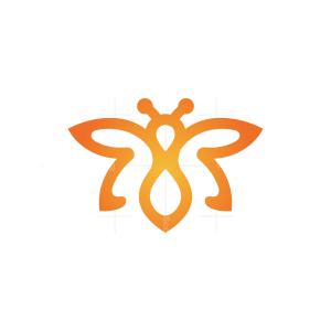 Orange Flying Bee Logo