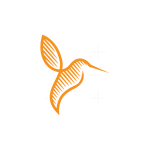 Lines Hummingbird Logo