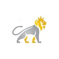 Gold Silver Lion Logo