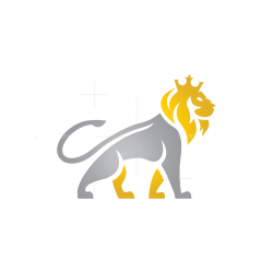Gold Silver Lion Logo