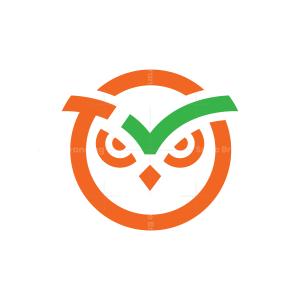 Check Owl Head Logo