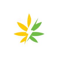Power Cannabis Logo Energy Hemp Logo