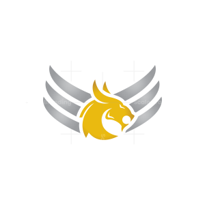Powerful Winged Dragon Logo