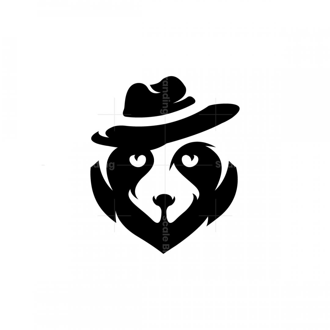 Hat Raccoon Logo Raccoon Head Logo