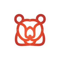Red Bear Head Logo