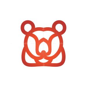 Red Bear Head Logo