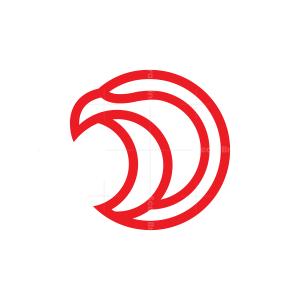 Red Eagle Head Logo