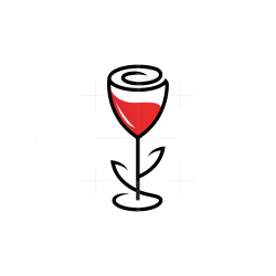 Rose Wine Logo