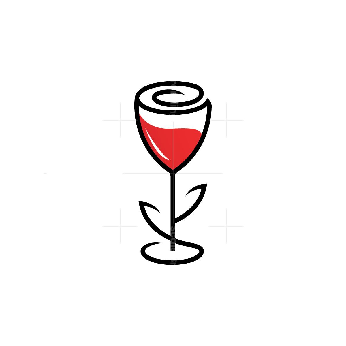 Rose Wine Logo