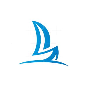 Sailboat Logo Boat Logo Yacht Logo