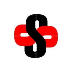 infinity cross S letter logo