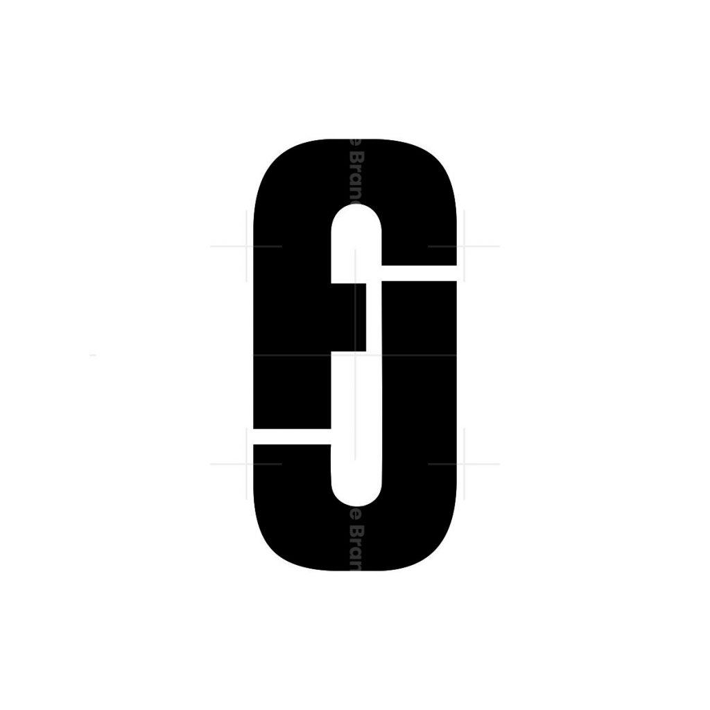 initial fj letter logo