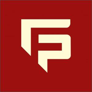 g f p letter logo