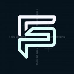 g p letter logo