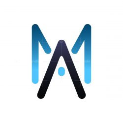initial M A letter logo