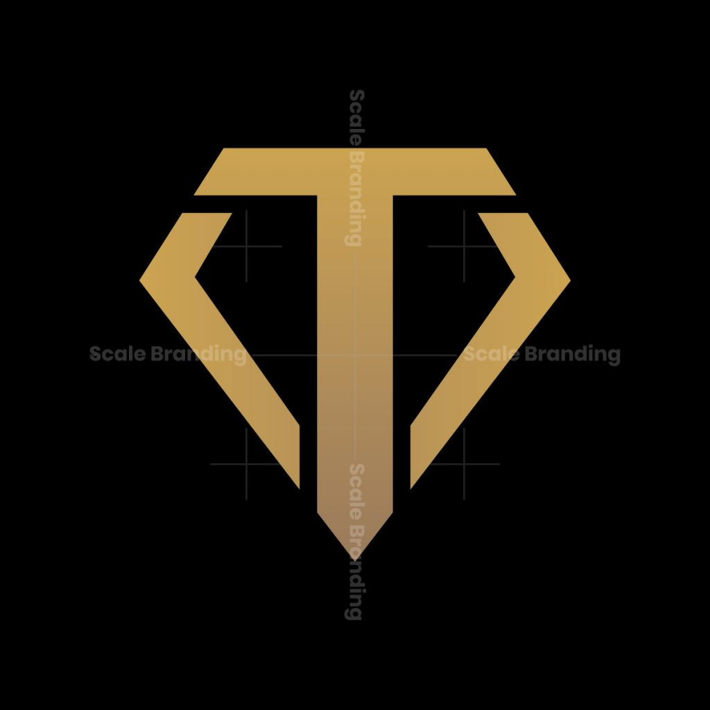 initial t and a shield letter logo
