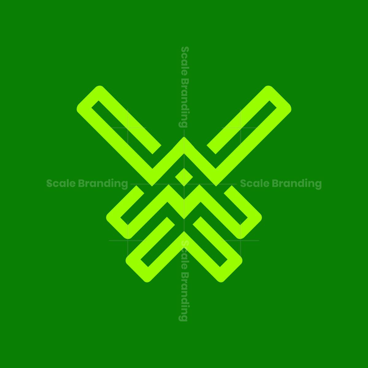 w m w letter logo