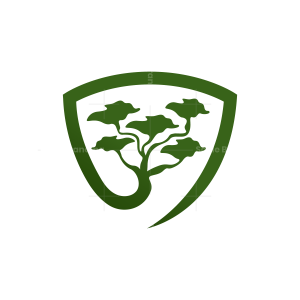 Shield Bonsai Tree Logo