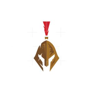Brown Spartan Helmet Logo