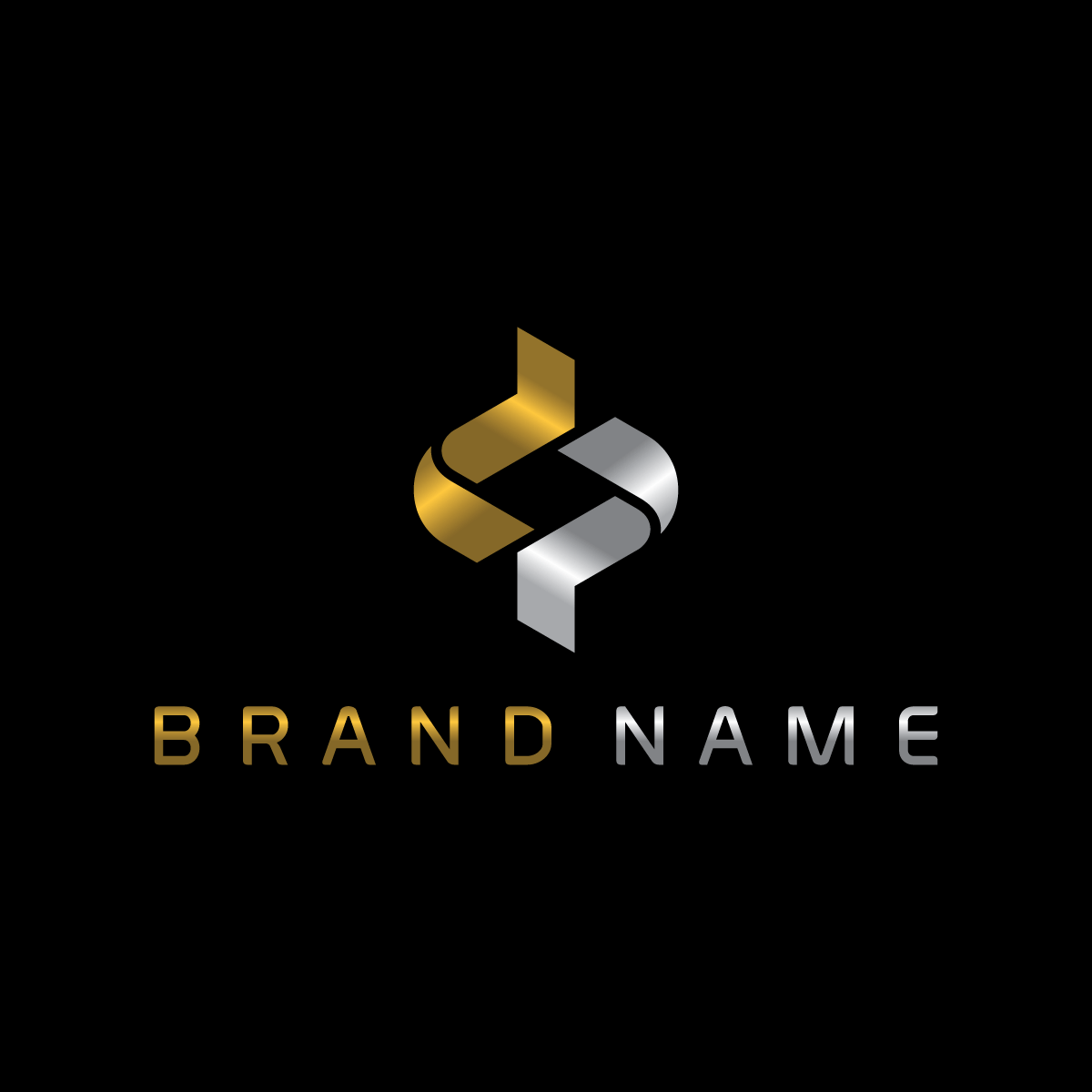 Stylish Letter dp Logo