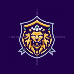 THE BEAST LION MASCOT LOGO