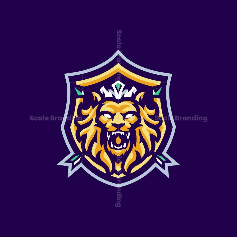 THE BEAST LION MASCOT LOGO